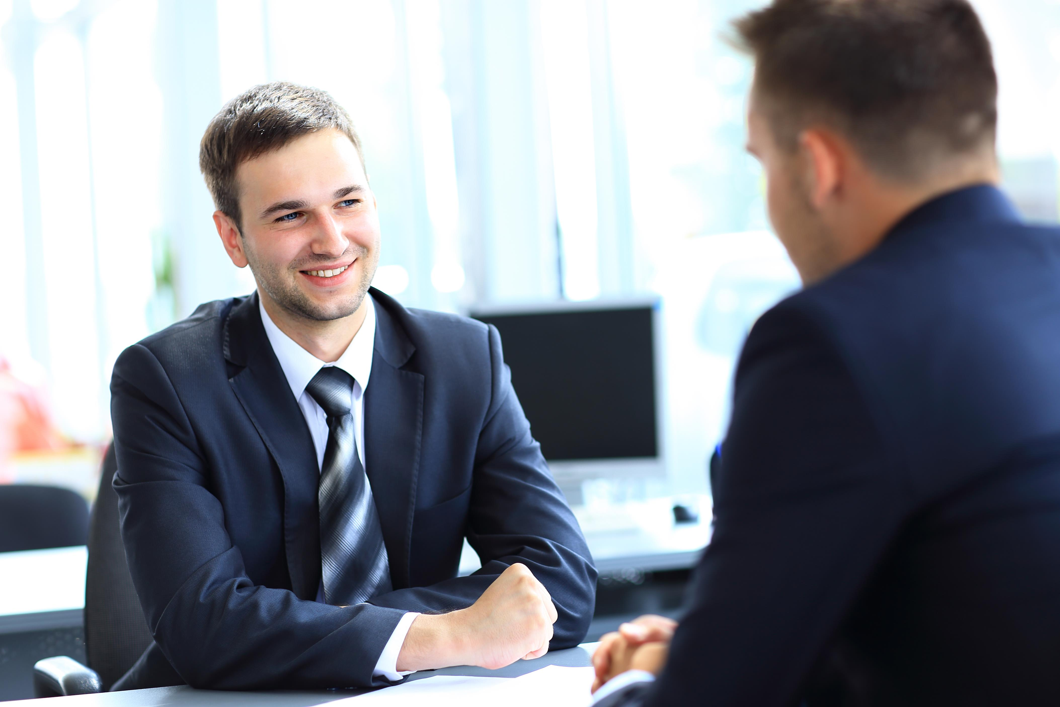 Man-at-Interview